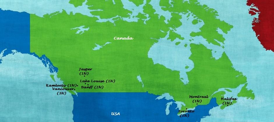 Canada - Coast to Coast by Rail