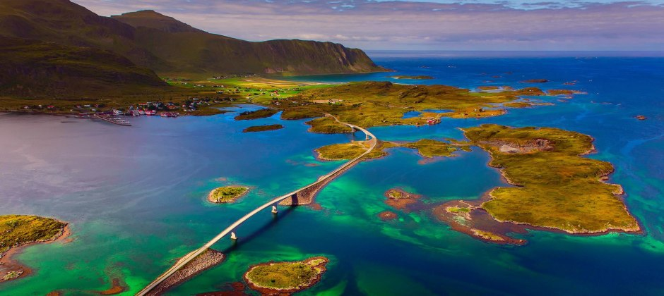 Arrive Arctic Circle and Lofoten Islands (21:00 Hrs)