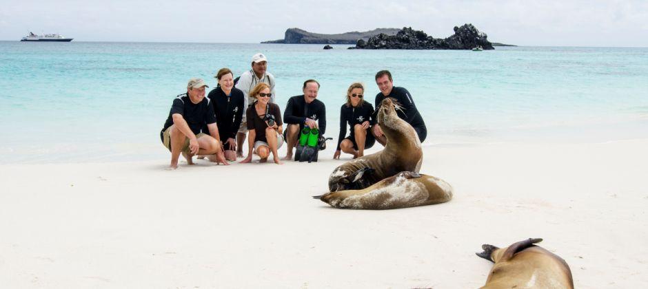 Arrive Puerto Egas, Galapagos (07:00 Hrs) - Rabida, Galapagos (15:00 Hrs)