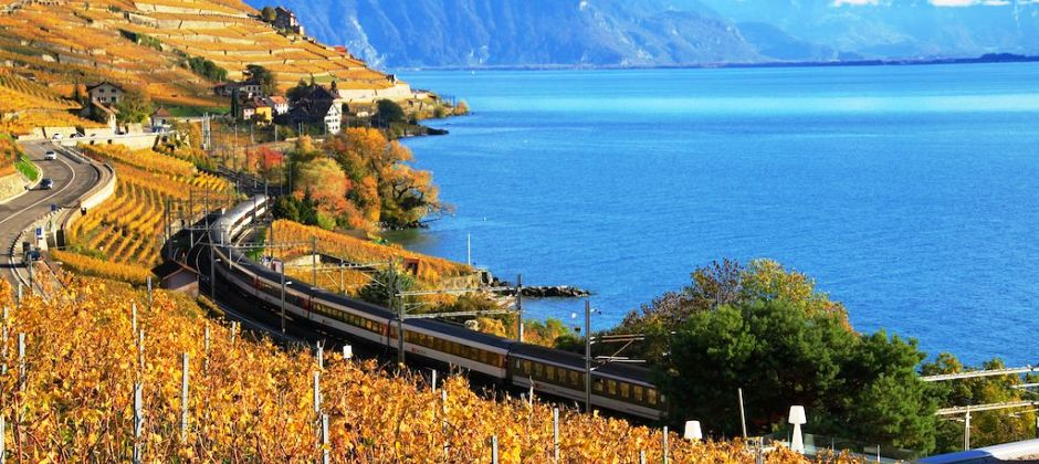 Montreux- Geneva | Enroute visit Lavaux Wineyards  | Orientation tour of Geneva
