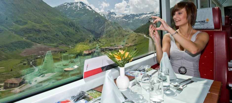 Interlaken- St. Moritz by Glacier Express